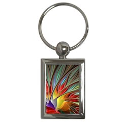 Fractal Bird of Paradise Key Chain (Rectangle)