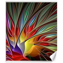 Fractal Bird of Paradise Canvas 8  x 10