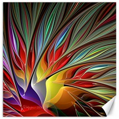 Fractal Bird Of Paradise Canvas 16  X 16