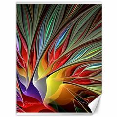 Fractal Bird of Paradise Canvas 36  x 48