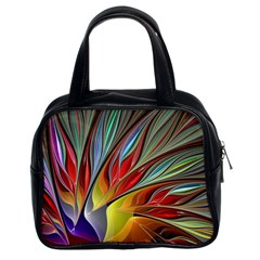 Fractal Bird of Paradise Classic Handbag (Two Sides)