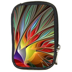 Fractal Bird of Paradise Compact Camera Leather Case