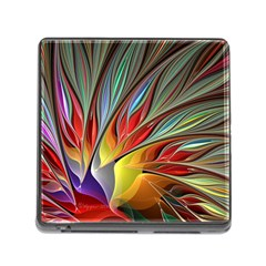 Fractal Bird of Paradise Memory Card Reader (Square)
