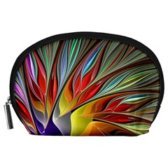 Fractal Bird of Paradise Accessory Pouch (Large)
