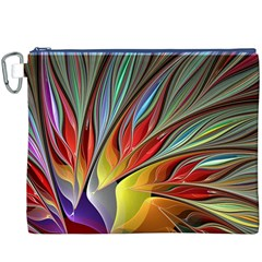 Fractal Bird of Paradise Canvas Cosmetic Bag (XXXL)