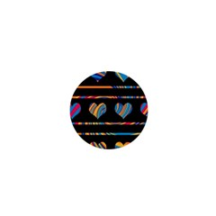 Colorful harts pattern 1  Mini Magnets