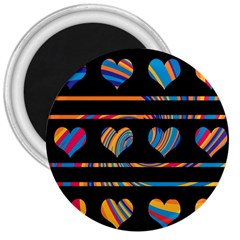 Colorful harts pattern 3  Magnets