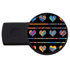 Colorful harts pattern USB Flash Drive Round (1 GB)