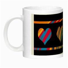 Colorful harts pattern Night Luminous Mugs