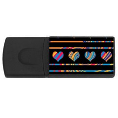 Colorful harts pattern USB Flash Drive Rectangular (4 GB)