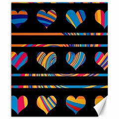 Colorful harts pattern Canvas 8  x 10