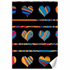 Colorful harts pattern Canvas 20  x 30