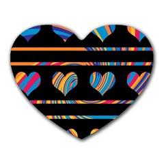 Colorful harts pattern Heart Mousepads