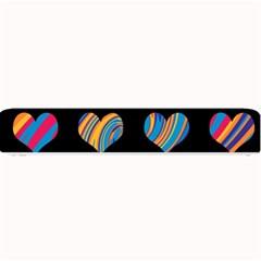 Colorful harts pattern Small Bar Mats