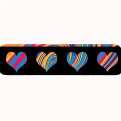 Colorful harts pattern Large Bar Mats