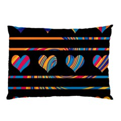 Colorful harts pattern Pillow Case