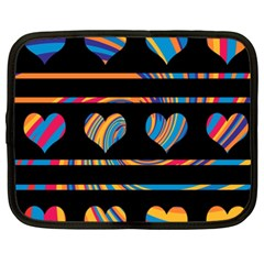 Colorful harts pattern Netbook Case (XXL)
