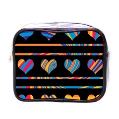 Colorful harts pattern Mini Toiletries Bags