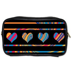 Colorful harts pattern Toiletries Bags 2-Side