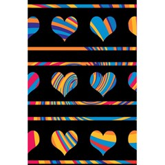 Colorful harts pattern 5.5  x 8.5  Notebooks