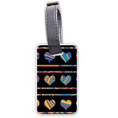 Colorful harts pattern Luggage Tags (Two Sides)