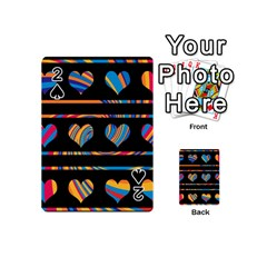 Colorful harts pattern Playing Cards 54 (Mini)
