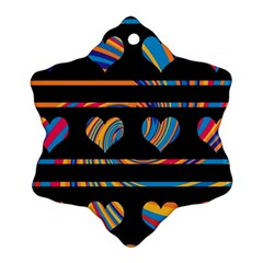 Colorful harts pattern Ornament (Snowflake)
