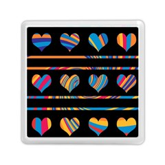 Colorful harts pattern Memory Card Reader (Square)