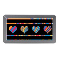 Colorful harts pattern Memory Card Reader (Mini)