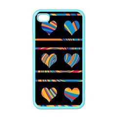 Colorful harts pattern Apple iPhone 4 Case (Color)