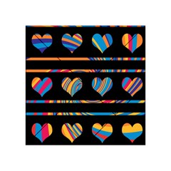 Colorful harts pattern Acrylic Tangram Puzzle (4  x 4 )