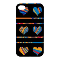 Colorful harts pattern Apple iPhone 4/4S Premium Hardshell Case