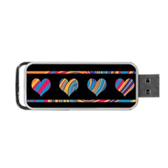 Colorful harts pattern Portable USB Flash (One Side)