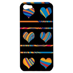 Colorful harts pattern Apple iPhone 5 Hardshell Case
