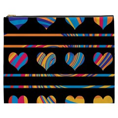 Colorful harts pattern Cosmetic Bag (XXXL)