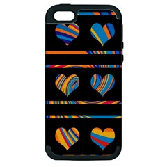 Colorful harts pattern Apple iPhone 5 Hardshell Case (PC+Silicone)