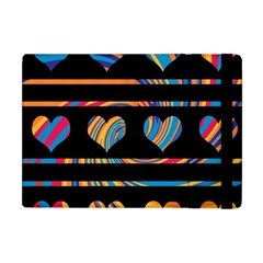 Colorful harts pattern Apple iPad Mini Flip Case