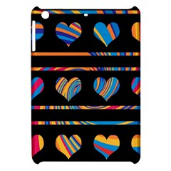 Colorful harts pattern Apple iPad Mini Hardshell Case