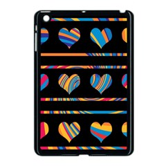 Colorful harts pattern Apple iPad Mini Case (Black)