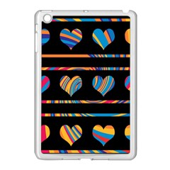 Colorful harts pattern Apple iPad Mini Case (White)