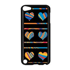 Colorful harts pattern Apple iPod Touch 5 Case (Black)