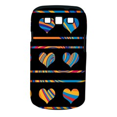 Colorful harts pattern Samsung Galaxy S III Classic Hardshell Case (PC+Silicone)