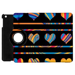 Colorful harts pattern Apple iPad Mini Flip 360 Case