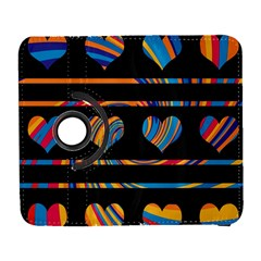 Colorful harts pattern Galaxy S3 (Flip/Folio)