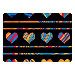 Colorful harts pattern Samsung Galaxy Tab 10.1  P7500 Flip Case