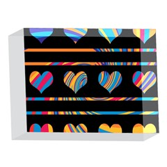 Colorful harts pattern 5 x 7  Acrylic Photo Blocks