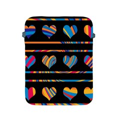 Colorful harts pattern Apple iPad 2/3/4 Protective Soft Cases