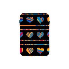 Colorful harts pattern Apple iPad Mini Protective Soft Cases