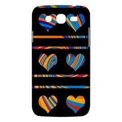 Colorful harts pattern Samsung Galaxy Mega 5.8 I9152 Hardshell Case