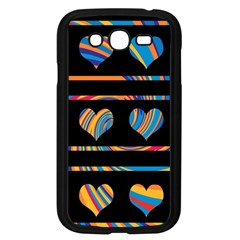 Colorful harts pattern Samsung Galaxy Grand DUOS I9082 Case (Black)
